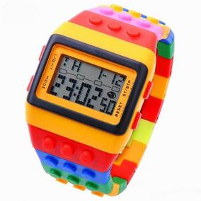 Reloj Para Niños Y Jóvenes Tipo Lego Block Construcción
