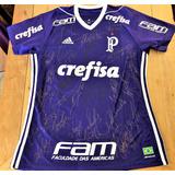 Camisa Palmeiras Usada Jogo 2018 Autografada Todos
