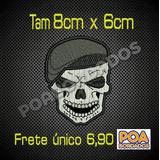 80bd980a77a1b Patch Caveira Com Boina no Mercado Livre Brasil