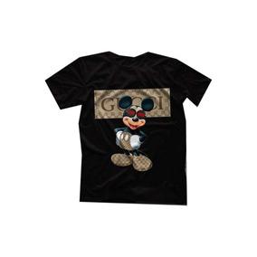 Camiseta Camisa Gucci Mikey Mouse Unissex Qualidade 478d8dc73c8