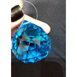 Esfera De Cristal K9 Azul 40mm Para Lustres E Home Decor