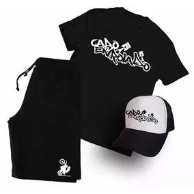 Kit Camisa+bermuda+boné Cabo Enrolado Grau De Rua Promoção f100fb0f5ba