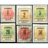 3838 Revolución Sonora Diligencia 6 Sellos Nuevo Usado 1915