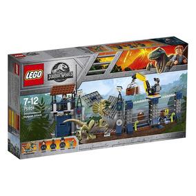 Ataque Del Dilophosaurus - Jurassic World - Lego