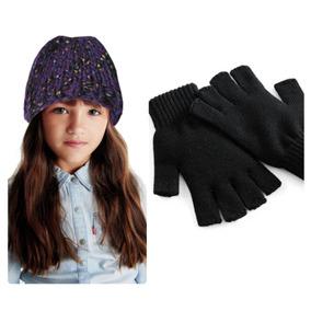 Gorro Chapéu Infantil E Par De Luvas Meninas De 6 À 10 Anos f334024ea18