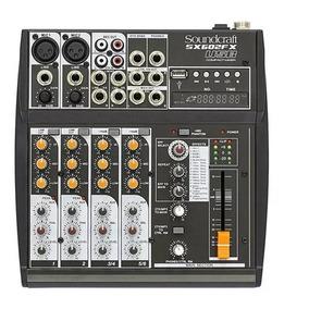 Mixer Mesa De Som Soundcraft Com 6 Canais Sx602fx-usb Oferta