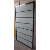 Cancel De Aluminio Con Vidrio Blanco (usado) (4 Paneles)
