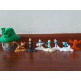 Los Pitufos Casa Los Pitufos+ Figuritas (valor Lote)