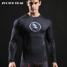 e67e63b55d509 Camisa Compressão Zootop Bear Zoom Manga Longa Marvel Flash