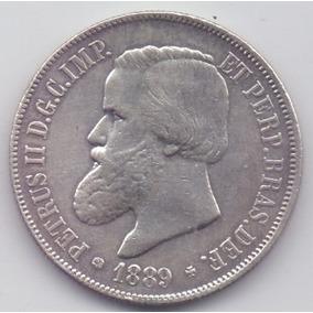 Moeda 2000 Réis 1889 Prata Do Império Lote6