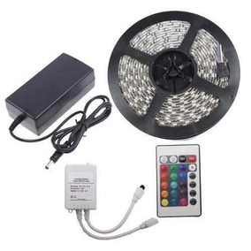 Tira Luces Led Rgb Control 5 Metros Pc Gamer Decoracion 220v