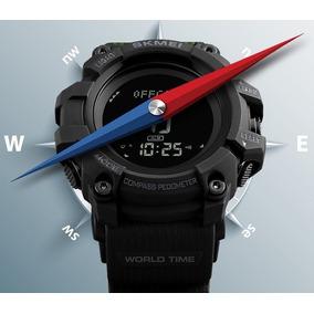 Relógio Masculino Skmei Bússola, Pedômetro, À Prova D`água