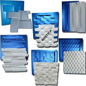 6 Formas Placa De Gesso 3d De Plastico C/ Borracha Kit6a