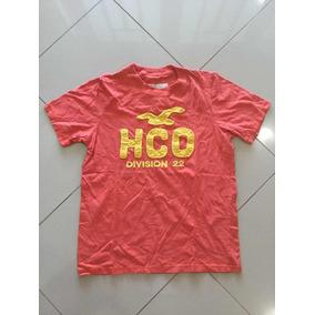 Camiseta Hollister 100% Algodão Peruano De Nyc Laranja Tam M a0dc7303772a2