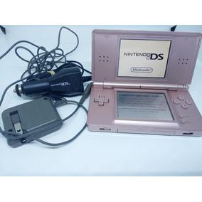 Nintendo Ds Lite Con Cargador Corriente Auto + Juego