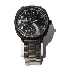 Relógio Masculino Messino Prata Grande