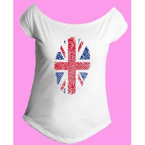 Camiseta Londres Inglaterra Feminina - Camisetas Manga Curta no ... 64aadc7524128