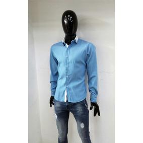 Camisa Azul Claro De Manga Larga