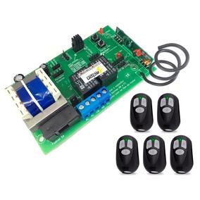Central Placa Portão Eletrônico Universal Smart +5 Controles