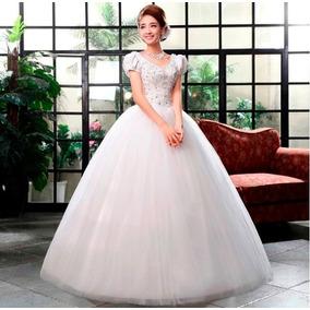 Vestido Novia Princesa Manga Corta Ivory Talla S Oferta