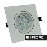 Kit C/ 2 Spot Led Direcionável 7 W Quadrado - Branco Frio Bv