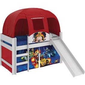 Cama Infantil Mickey Disney Escorrega Barraca Vermelha Pura