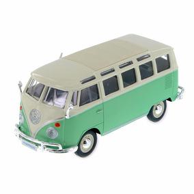 Auto A Escala Maisto 1:25 Volkswagen Van Samba Verde Pc