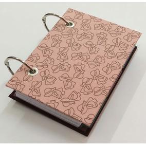 Caderno Argolado Fichário Porta Fichas 3x5 100f Bonequinhas