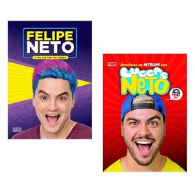 Kit 2 Livros Irmãos Neto - Felipe Neto E Luccas Neto !
