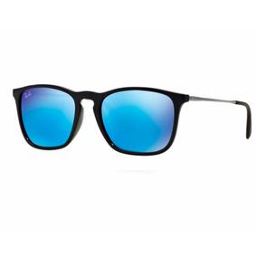 65e73d5f71fb0 Óculos Ray-ban Rb4187 Chris Original Preto Azul Espelhado