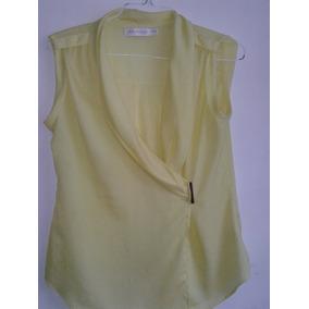 190b67363f4ef Blusa De Seda Color Verde Manzana. Bs. 1.000