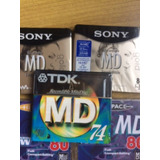 Minidisc Sony 80m, Tdk, Hi Space Sellados 100% Originales