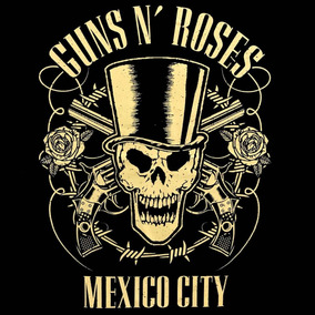 Guns N Roses Playera Oficial Mexico City Talla Grande Rock