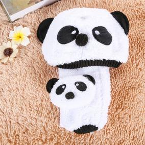 Kit De Bufanda Y Gorro Oso Panda Para Bebe 7a3dc8a0be9