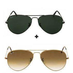 Kit 2 Oculos Feminino E Masculino - Óculos De Sol Com proteção UV no ... d26641b08d