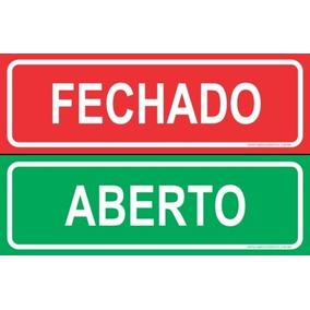 Placa Aberto E Fechado Em Ingles - Outros no Mercado Livre Brasil 89595bb0838