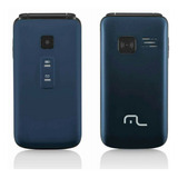 Celular Flip Vita Azul Dual Chip Quadriband P9020 Multilaser