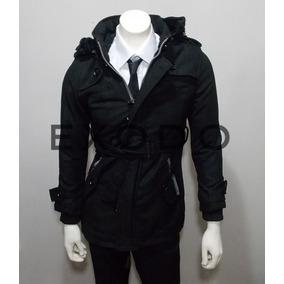 Abrigo De Hombre Negro, 9911 Exclusivo Xl, Envió Gratis