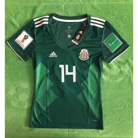 fdb76b6be3017 Jersey Chicharito Hdz Mexico Dama Parche Mundial 2018 Local