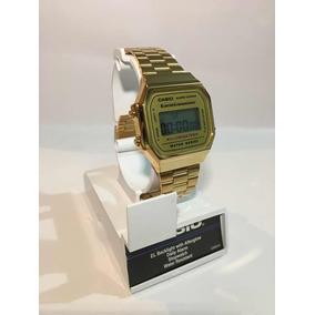 bb71060fe947 Reloj Casio Retro A 168 Dorado Retro Vintage Alarmcrono Luz - Reloj ...