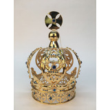 Corona Imperial #14 Bañada En Oro Con Cristal Cortado