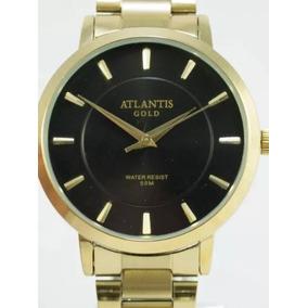 Relógio Masculino Atlantis Prova Dágua Barato Em Aço