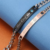 Pulsera Para Pareja En Acero Her King / His Queen