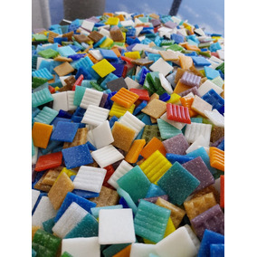 Mix De 600 Pastilhas Coloridas 2x2 Para Mosaico