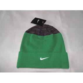 Gorro Nike Sideline Beanie Azul Con Negro O Verde Neg
