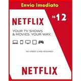Cartão Pré-pago Conta Netfix Ultra Hd 10,00 Reais