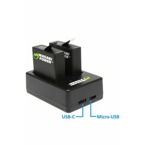 Baterias + Carregador Dual Wasabi - Kit Gopro Hero 7
