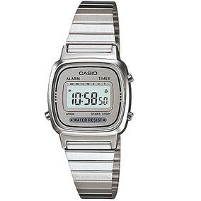 a3f4d3e2e46 Relógio Casio Feminino Retro Vintage La670wa-7df Mini