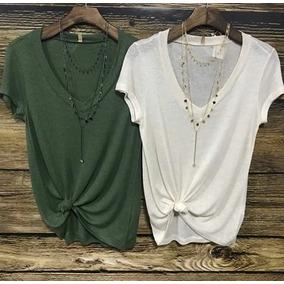 Kit Com 3 Blusa Shirt Podrinha Mas 1 Top De Brinde P M G