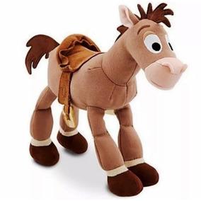 Pelucia Bala No Alvo Cavalo Wood Toy Story 26 Cm Original